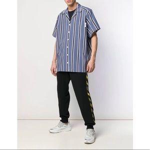 $425 GCDS Short Sleveve Striped Button Ups Shirt